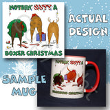 Boxer butt christmas coffee mug