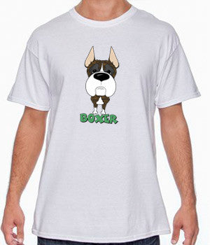 Big Nose Boxer Cropped (Brindle) T-shirts - More Colors Available