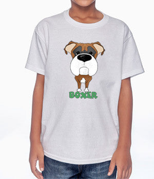 Big Nose Boxer (Tan/White) Youth T-shirts - More Colors Available