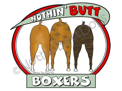 Nothin' Butt Boxers Light Colored T-shirts