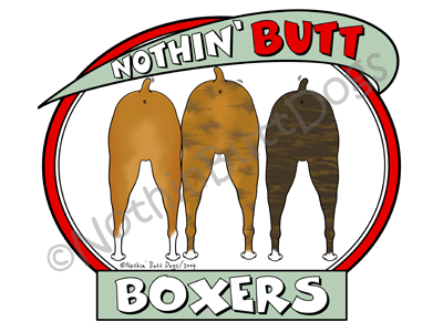 Nothin' Butt Boxers Dark Colored T-shirts