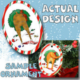 Boxer Wreath Christmas Ornament