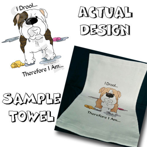 I Drool Bulldog Towel - More Breed Colors Available