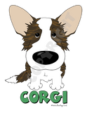 Brindle Cardigan Welsh Corgi (Big Nose) Shirts - More Styles and Colors Available