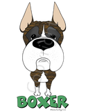 Big Nose Boxer Cropped (Brindle) Youth T-shirts - More Colors Available