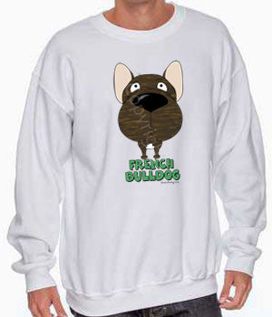 Big Nose French Bulldog (Brindle) Shirts - More Styles and Colors Available
