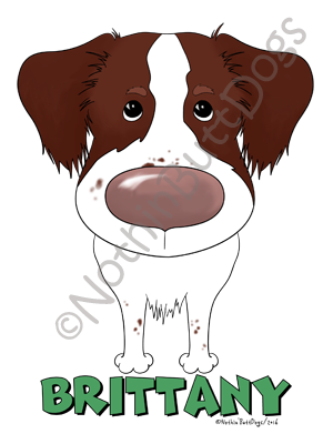Big Nose Brittany Dark Colored T-shirts