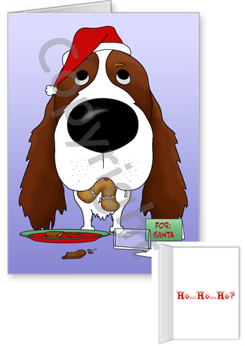 English Springer Spaniel Santa's Cookies Greeting Cards