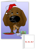 Chocolate Labrador Retriever Santa's Cookies Greeting Cards