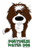 Big Nose Portuguese Water Dog (Wavy) Dark Colored T-shirts