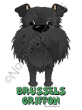 Big Nose Uncropped Brussels Griffon Light Colored T-shirts