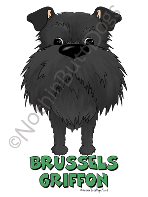 Big Nose Uncropped Brussels Griffon Dark Colored T-shirts