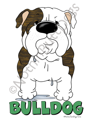 Big Nose Bulldog Light Colored T-shirts