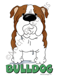 Big Nose Bulldog Dark Colored T-shirts