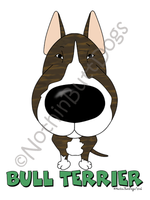 Big Nose Bull Terrier Dark Colored T-shirts