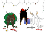 Nothin' Butt A Bull Terrier Christmas Greeting Cards