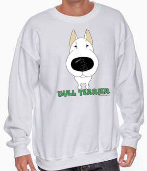 big nose bull terrier sweatshirt
