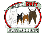 Nothin' Butt Bull Terriers Light Colored T-shirts