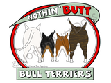 Nothin' Butt Bull Terriers Dark Colored T-shirts