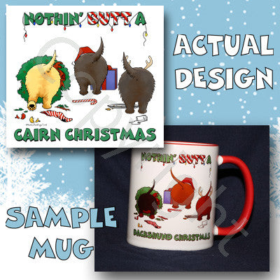 Nothin' Butt A Cairn Christmas 11 oz Red Mug