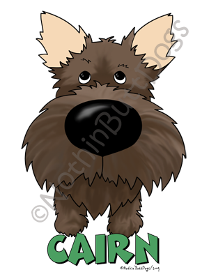 Big Nose Cairn Terrier Light Colored T-shirts