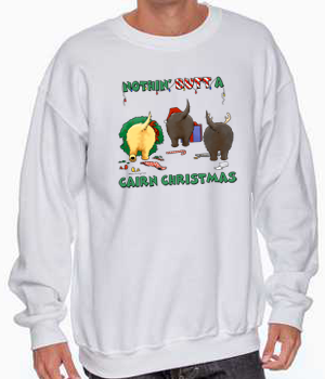 Nothin' Butt A Cairn Terrier Christmas Sweatshirt