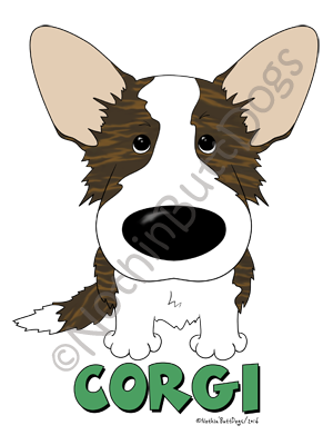 Big Nose Cardigan Corgi Light Colored T-shirts