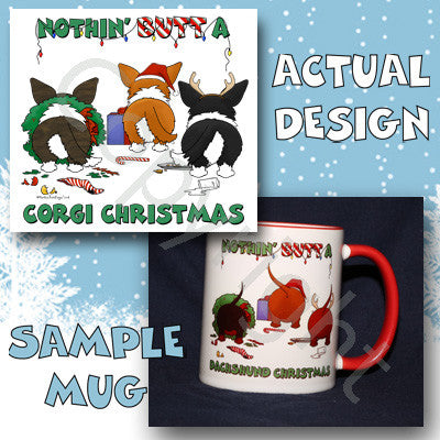 Cardigan Welsh Corgi butt christmas coffee mug