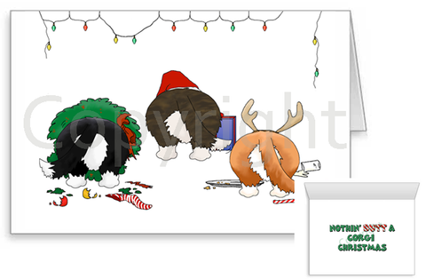 Nothin' Butt A Cardigan Welsh Corgi Christmas Greeting Cards
