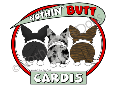 Nothin' Butt Cardigan Welsh Corgis Dark Colored T-shirts