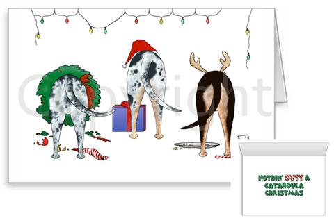 Nothin' Butt A Catahoula Christmas Greeting Cards