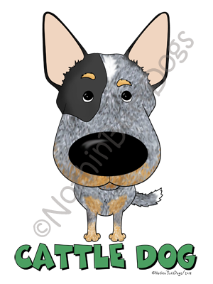Big Nose Cattle Dog Dark Colored T-shirts