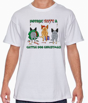 Nothin' Butt A Cattle Dog Christmas Tshirt