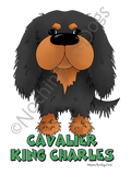 Big Nose Cavalier King Charles Spaniel Light Colored T-shirts