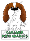 Big Nose Cavalier King Charles Spaniel Magnet - More Coat Colors Available