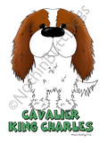 Big Nose Cavalier King Charles Spaniel Dark Colored T-shirts