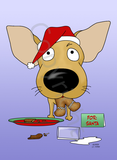 Chihuahua Santa's Cookies Greeting Cards