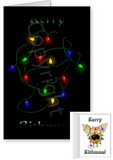 Chihuahua Merry Christmas Lights Greeting Cards