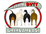 Nothin' Butt Chihuahuas Dark Colored T-shirts