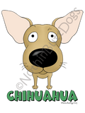 Big Nose Chihuahua Light Colored T-shirts