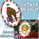 Chocolate Lab Wreath Christmas Ornament