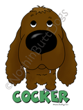 Big Nose Cocker Spaniel Light Colored T-shirts