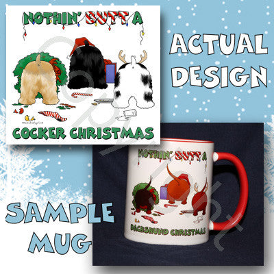 Nothin' Butt A Cocker Spaniel Christmas 11 oz Red Mug