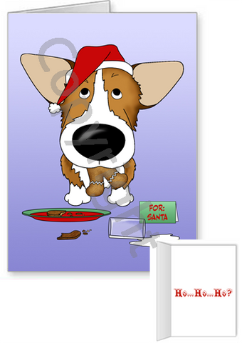 Pembroke Welsh Corgi Santa's Cookies Greeting Cards