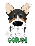 Big Nose Pembroke Welsh Corgi Dark Colored T-shirts