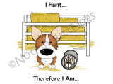 Pembroke Welsh Corgi Barn Hunt.... Light Colored T-shirts