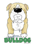 Big Nose Bulldog (Blonde&White) Shirts - More Styles and Colors Available