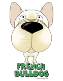 Big Nose French Bulldog (Cream) Shirts - More Styles and Colors Available