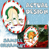 Golden Retriever Wreath Christmas Ornament