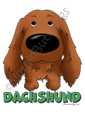 Big Nose Dachshund Long Haired Light Colored T-shirts